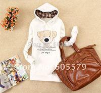 Hot Women Hooded Pullover Sweats Cute Bear Head Hoodie Jumper