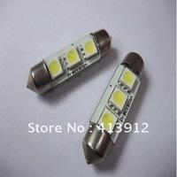 Free Shipping 10pcs 39mm 3 SMD 5050 Indicator Light Car Interior Lamp Automobile Wedge LED Bulbs