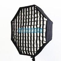 Pro Studio 80cm Umbrella Octagon Softbox Brolly Reflector Speedlite with Grid PSCS17G