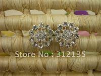 Free Shipping Fashion Shining Crystal Flower Design Wedding Bridal Hair Pin Silver Plating  2*2*7cm 120pcs/Lot