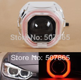 "2014 New Arrival 2pcs 2.5"" G5C Bi- Xenon HID Projector Lens Kit  square Angle Eyes Free shipping"