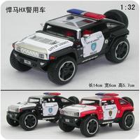 Toy police car hummer hx concept car police car alloy WARRIOR plain cars