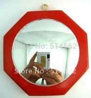 Feng Shui Concave Red Wood Bagua Mirror Pakua 4 Inch,wood bagua/Pakua