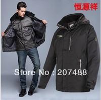 New  men's short design down coat  detachable liner men's clothing