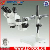 Free Shipping! 7X~90X Digital Usb trinocular Stereo Zoom Microscope 56pcs led microscope+ 5M