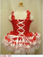 wholesale 2012 girls dot petti dresses chiffon tutu dress baby sleeveless clothing cute  free shipping 001