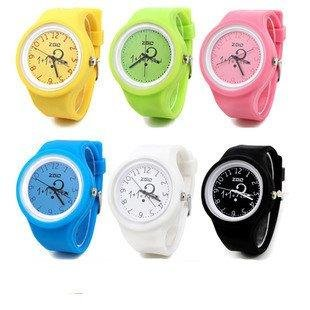 F03670-6 Zgo Fashion Casual Quartz Life Waterproof Exfoliants Sports watch jelly table candy color watch 6056 + Free shipping