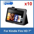 "Wholesales 10pcs/lot Black PU leather Case For Kindle Fire HD 7"",WIFI 4G Pouch cover with stand,Newest Amazon Tablet in 2012"