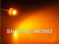 Stable quality orange led straw hat led diode(4.8mm dip lamp bulb)600-610NM 2.0-2.5V