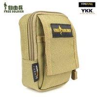 Free Soldier Men Women Waist Pack Small Pouch Bag(Saco) Handbag Material:Cordura YKK Color:Black/Brown/ACU Size:14*7*10.5CM
