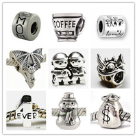 """Wholesale! Free Shipping! High quality! 10Pcs 925 Silver Bead Charm European """"brother"""" Bead Fit BIAGI Bracelet S42 can mixed"""
