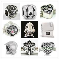 Wholesale! Free Shipping! 10Pcs 925 Silver Bead Charm European Bead Fit BIAGI Bracelet S52