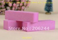 100pcs each lot + Free Shipping,Wholesale High-Quality PINK Nail Buffer Block File 4 Way Shine