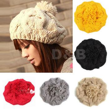Free Shipping 2014 Winter Hats For Women All-match Cross Twist Knitted Hat Fashion Beanies Women Winter Cap 80489
