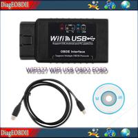 latest  WIFI usb ELM 327 WIFI OBD2 EOBD Scan Tool New function WIFI + USB  best quality  WIFI USB ELM327