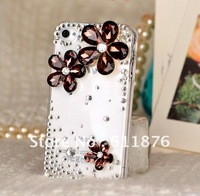 hot sale many color fashion rhinestone diamond Costly large crystal Daisy phone Case Cover for iphone 4 & iphone 4s