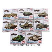 Free Shipping 8pcs 1:72 Tank Model Assembly Toy Puzzle Figure Boy Gift (8pcs per Set)