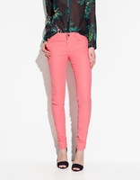Free shipping  2012 hot  Autumn New  girls  Bottom Zipper Decorate Candy Colors Skinny  trousers  Womens   Ladies Autumn Pants