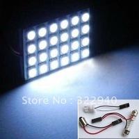 Free shipping wholesale 5pcs 24 SMD 5050 white/warm white Light 12V LED reading Panel Car interior Dome light