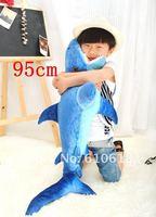 2013 New Arrival 85cm Simulation Shark Creative Plush Toy Cushion Pillow Home Decor Children Gift Free Shipping 1 Pcs