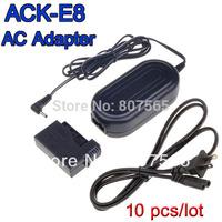 10 x ACK-E8 7.4V 2A AC Power Adapter Fr Camera CANON EOS 550D 600D 650D 700D Rebel T2i T3i T4i Kiss X4 X5 X6i Adaptador Free DHL