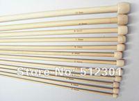 "New 2014 FREE SHIPPING 12 size 13""(35cm) Tunisian/Afghan Bamboo Crochet Hooks Knitting Needles"