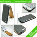 High Quality Leather Flip Skin Case Cover For iphone 5 5G 5th Free Shipping UPS DHL HKPAM CPAM