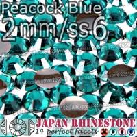 2mm SS6 Peacock Blue 3000pcs/bag,Nail Crystals Non Hotfix Rhinestones Resin Flat Back stones glitters for Glue DIY Nail Art