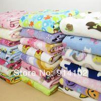 Free shipping Baby blanket Coral fleece blankets kid's cartoon printing blanket 100*76cm blue