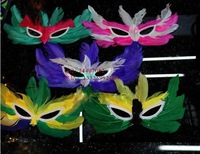 Halloween Masquerade Mask feather mask style supplies large random 10 piece/lot party mask halloween decoration