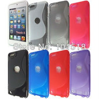 10pcs/lot Free shipping New S-Line TPU Silicone Gel case for  iPod Touch 5 5th generation