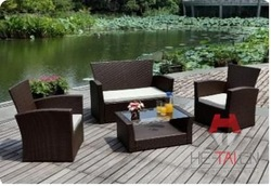 PU rattan handmade chair and table weave set outdoor aluminium frame furniture UV/weatherproof,durable,strong,lightweight(China (Mainland))