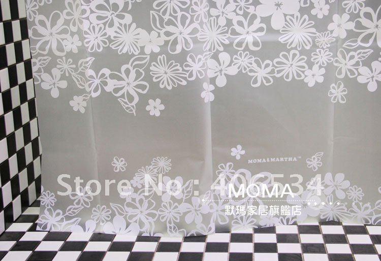 Free shipping translucent flower Figure Design Bathroom Fabric