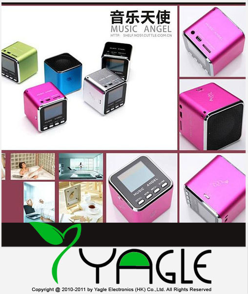 100% Original Music Angel MD08D Portable Speaker with TF/Mirco SD/LCD screen/ FM PC download(China (Mainland))