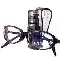 Black Transparent Car Sunglasses Clip Eyeglasses Frame, Card/ Ticket/ Glasses Rack, Automobile Interior Accessories (10pcs/ Lot)