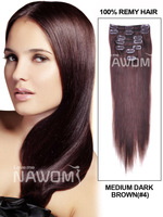 """100% SEXY 20"""" 7 Piece Silky Straight Clip In Indian Remy Human Hair Extension - 4  Hot sale"""