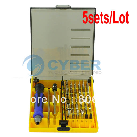 Free Shipping 5sets/Lot Precision 45 In 1 Multi-function Electron Torx Screwdriver Tool Set 4445(China (Mainland))