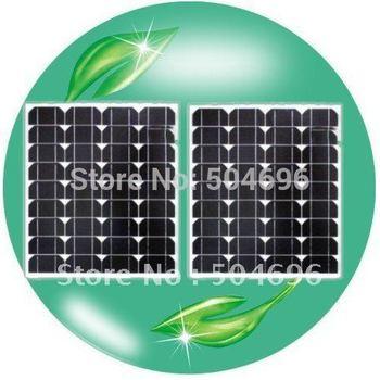 2 X 40w Solar Panel Module Monocrystalline  total 80W,Free shipping,Grade A,Brand New !solar panel