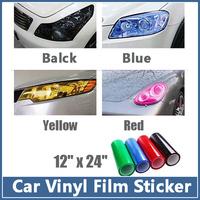 MOQ 10 pcs 30CM*100CM Auto Car HeadLight Sticker Fog Xenon LED Taillight Tint Vinyl Film Sheet For Cruze And So On