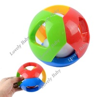 New Colorful Baby Children's lalababy plush bell ball baby toys, Educational Plastic Bell Ball Toys 6232