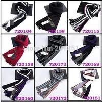 Free Shipping Drop Shipping Guaranteed 100% 2014 Spring Autumn Winter Fashion Stripe Men's Cashmere Thick Warm Casual Scarfs