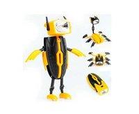 Novelty Product Amazing LED Torch Light Robot Transformers Toys,Mini flashlight