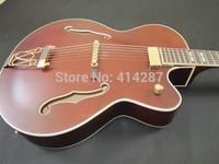 FREE SHIPPING red jumbo red electric hollow body archtop guitar jazz guitar Jay tuser guitars korea floating pickup jazz