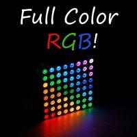 Free shipping,New RGB LED Dot Matrix 60mm 8*8 Full Color Common anode