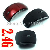 Wireless mouse --Optical Foldable Arc Mouse,Snap-in Transceiver,New 2.4Ghz
