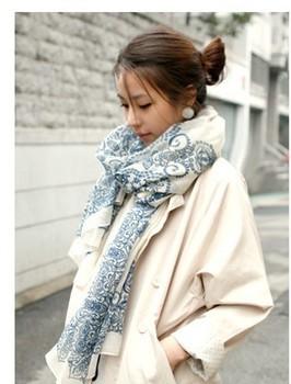 Designer 10pcs/lot with multicolour 100% cotton voile porcelain scarves mint green  pink white yellow shawl wrap 180*90cm