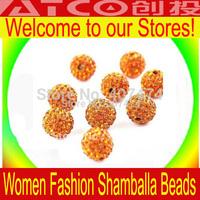 Wholesale Tresor Paris Shamballa Beads Micro Pave CZ Disco Shambhala beads 10MM disco ball beads 100pcs/lot Free Shipping