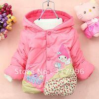 Free shipping Winter Hot Sale children coat,kids coat,girl cartoon winter coat 4pcs/lot wholesale