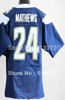 Free Shipping!!!  new style jersey #24 Ryan Mathews  new blue jersey