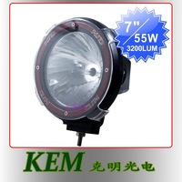 "Free shipping Hot sale 7"" 12V 35W 55W HID off road bulb work light HID driving lamp"